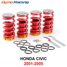 Front Rear Suspension Coilover Lowering Spring Sleeve Kit for 01-05 Honda Civic