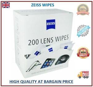 5-400 Zeiss Wipes Pre Moist Lens Cleaner Lenses Individual loose Sachets Glasses