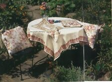 Garden Table Setting Quilt Pattern Pieced Tablecloth Placemat Napkin Seat Cushio