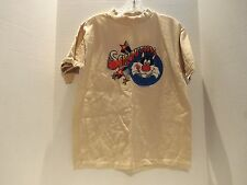 VINTAGE 1980 LOONEY TUNES SLYVESTER (SCRUMPTIOUS)T-SHIRT(MED) TAN- VERY RARE