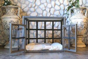 ATLAS with doors, Indoor Wood Dog House, Modern Crate, Luxury Pet Furniture