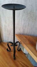 Schmiedeeisen - Kerzenständer- Handarbeit, Schwer 1,7 kg+Höhe 55 cm