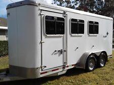 Horse Trailer Aluminum, Shadow, 3 horse slant load bumper hitch, Ocala FL