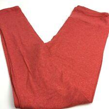 LuLaRoe OS Leggings, Red Leggings, Strawberry Color, Heathered, NWOT
