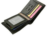NE_ Men's Money Credit/ID Card Holder Bifold Wallet Slim Purse Faux Leather Call