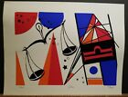 """T. Sayer Signed & Numbered Serigraph """"Libra"""" #25/200 13""""×16"""" Zodiac Sign 1970's"""