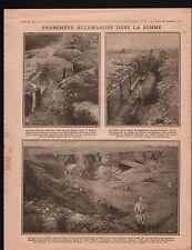 WWI Tranchées La Somme Poilus Combles/Map Carte Trieste Italia 1916 ILLUSTRATION