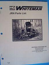 MQ Whiteman Power Trowel JRN Parts List  P/N 2921  7/95