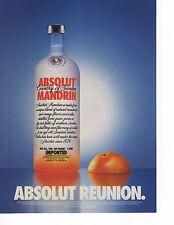Absolut Vodka Reunion Magazine Ad