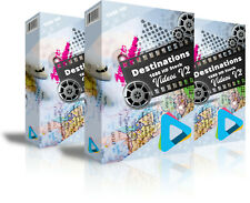 """Hd (1080) Royalty Free Stock Footage Videos """"Destinations """" on DvD-Rom"""