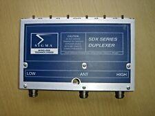 Sigma Wireless SDX460 UHF 440-512MHz duplexer N-type connectors