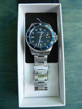 J. Brackett Imperia JB7001 Blue 45 mm Quartz w Stainless Steel Bracelet RP $225