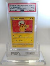 PSA 9 MINT Ash's Pikachu Pokemon I Choose You! Black Star Promo #SM109