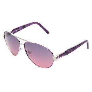 Just Cavalli Sonnenbrille JC400S_16B Damen Lila Silber Sunglasses NEU & OVP