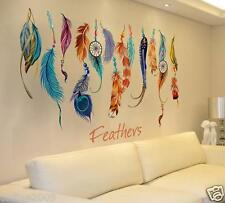 2016 Fashion Classic Creative Dream Catcher Feather Wall Sticker Art Decal Mural