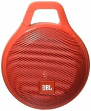 JBL Clip Wireless Bluetooth Portable Travel Speaker w/Integrated Carabiner (Red)