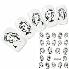 Adesivo Per Unghie Nail Art Marilyn Monroe 50 S Adesivo Water Decal