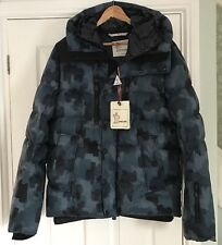 "Moncler Grenoble Mens Rodenberg Quilted Down Hood Jacket Coat Sz 2 38""£1225 New"