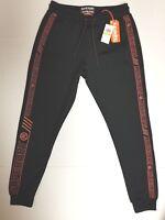 Superdry Men's Tricot Contrast Print Track Black/Orange Pants S M L XXL Joggers