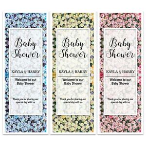 BABY SHOWER FLORAL BLOOM FLOWER WALL NAME BANNERS PARTY BACKDROP PERSONALISED