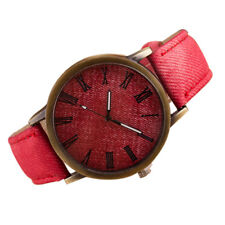 Hot Men Retro Watch Cowboy Leather Band Analog Quartz Women Casual Wrist Watche
