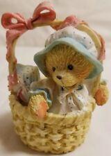 Cherished Teddies Bear Figurine Abigail Inside All The Same Basket Cat Duck