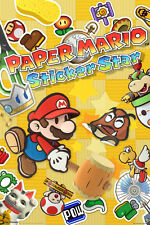 Paper Mario Sticker Star Characters Nintendo 3DS Video Game Poster - 12x18
