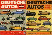 DEUTSCHE AUTOS – Typengeschichte I+II★1920–1945 & 1945–1975★Hardcovers★W. Oswald
