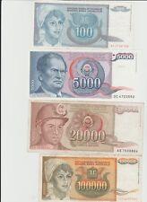 banconote Yugoslavia grande inflazione 1993
