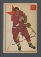 1954-55 Parkhurst Detroit Red Wings Hockey Card #41 Gordie Howe