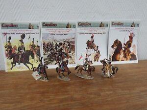 4x DEL PRADO Cavaliers des Guerres Napoleoniennes + Fascicules (9 10 11 12)