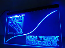 "New York Rangers Led Sign 12"" x 8"" On/Off Switch mancave bar pub"