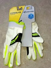 EASTON HYPERLITE FASTPITCH SOFTBALL BATTING GLOVES GIRLS MEDIUM OPTIC YELLOW