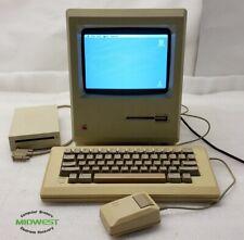 Vintage Apple Macintosh M0001 Computer w/ Keyboard M0110 Mouse M0100 Drive M0131