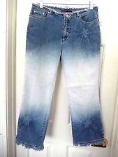Bubblegum Cropped Capri STAR SHINE Fringed Jeans -11/12   WOW Cute!