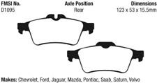 EBC Yellowstuff 4000 Brake Pad Set Rear for Chevrolet / Ford / Mazda / Jaguar