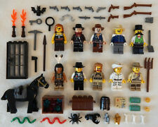 10 NEW LEGO COWBOY & INDIAN MINIFIG LOT wild west figures guys minifigures set