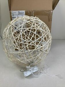 Pottery Barn Light Up Hanging Twiggy Orb White, Large
