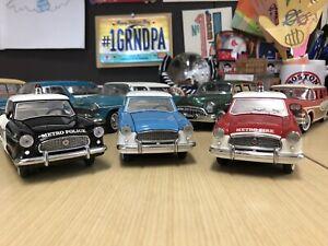 Franklin Mint 1956 Nash Metropolitans Set Of Three