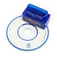 Blue ELM327 V2.1 Bluetooth OBD2 OBDII Car Auto Diagnostic Scanner Tool CD