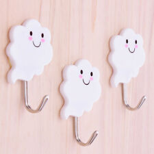3X Cloud Adhesive Sticky Hooks Storage Wall Hangers Bathroom Door# Kitchen L6Q2
