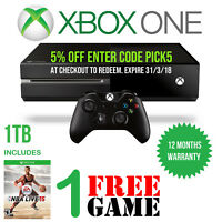 Microsoft Xbox One 1 TB Console Black Wireless Controller, Headset HDMI 1 Game