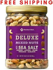 Member's Mark DELUXE Mixed Nuts With Sea Salt (34 oz.) NEW.(FREE SHIPPING)
