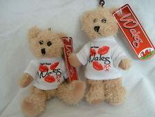 FREE POSAGE AFTER FIRST Teddy bear key ring Souvenir Kisses Wales,Welsh, Cymru