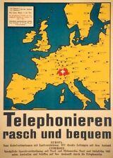 Original Plakat - Telephonieren rasch und bequem