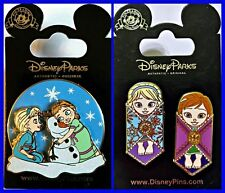 Disney Parks 2 Pin Lot FROZEN Toddlers + BABIES Elsa & Anna