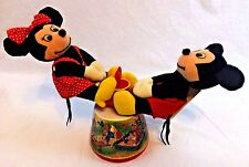 VINTAGE 1985 MICKEY MOUSE & minnie MUSICAL SEE SAW APPLAUSE teeter totter club