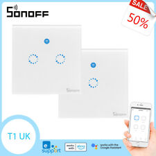 Sonoff T1 Reino Unido Smart Interruptor De Pared Táctiles WiFi Wireless Aplicación de frecuencia de radio control remoto de voz