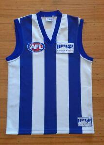 North Melbourne Kangaroos AFL VFL footy jersey guernsey XS retro sekem
