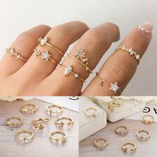 7 Pcs/set Gold Midi Finger Ring Set Vintage Punk Boho Knuckle Rings Jewelry 2020
